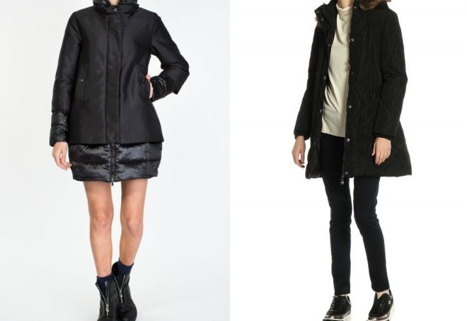 what to wear with a female down jacket to the knee