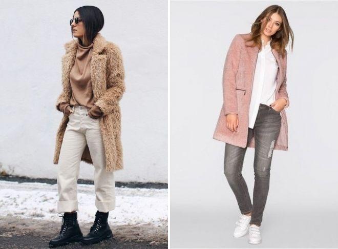 pink plush coat