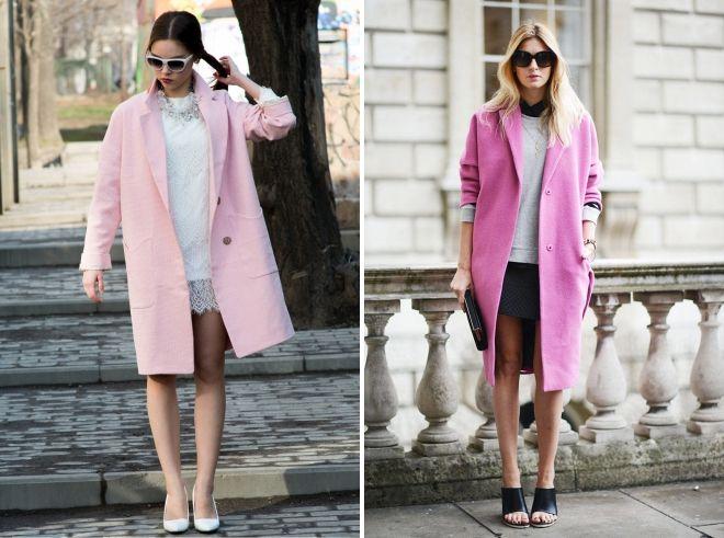 pink drape coat