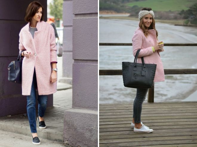 shoes to pink coat