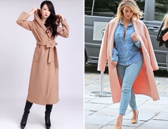 what to wear long pink coat