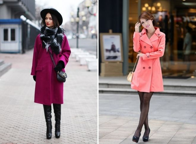what to wear pink coat images