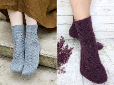 women's beautiful knitted socks
