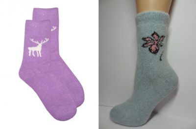 women's socks with angora