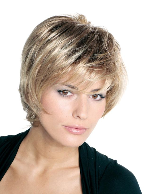 haircuts with oblique bangs for short hair blond