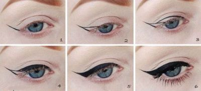 Arrows eyeliner step by step evening options