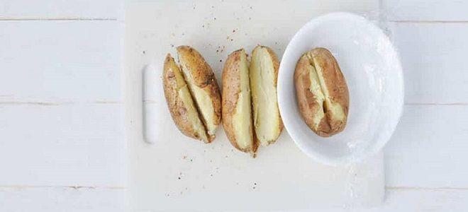 Jak vařit brambory v mikrovlnné troubě v Mundru