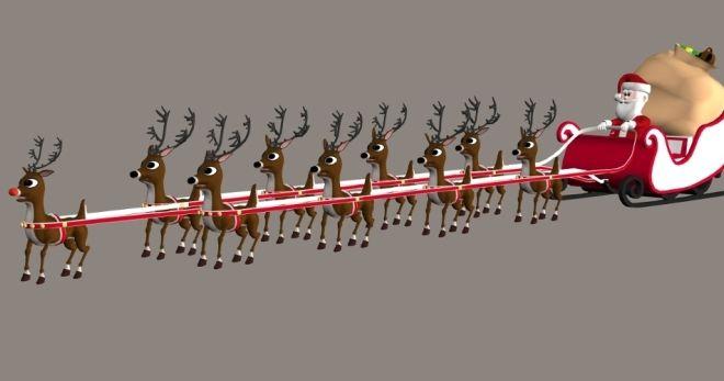 Jelen na Santa Claus