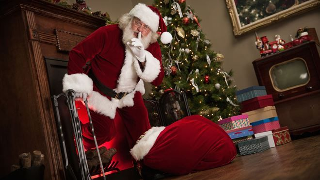 Jak Santa Claus rozprzestrzeni prezenty