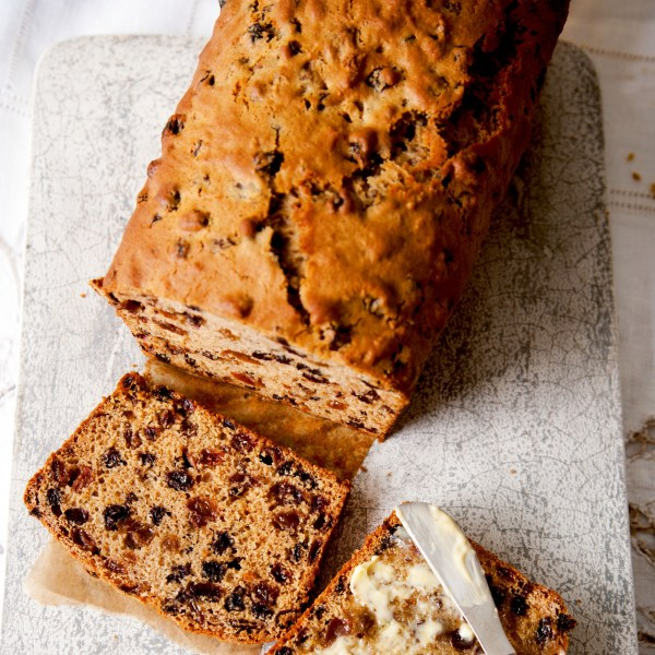 Cup Of Tea Fruit Loaf Woman And Home
