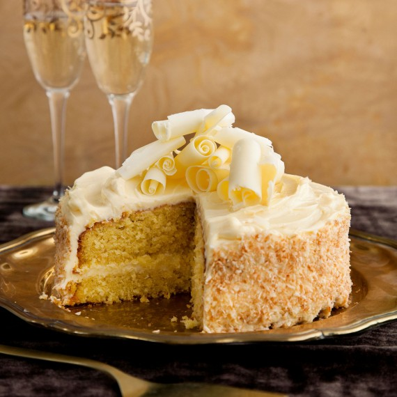 Frosted Peach And Coconut Cake Woman And Home