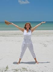 femme sur le plage