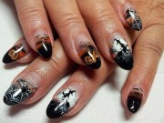 creeptastic halloween nail design