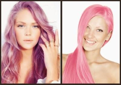 μοβ ροζ μαλλιά