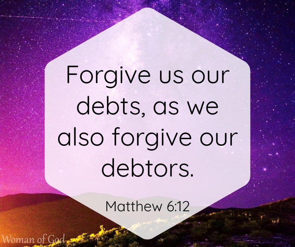 Matthew 6:12 Bible Verse