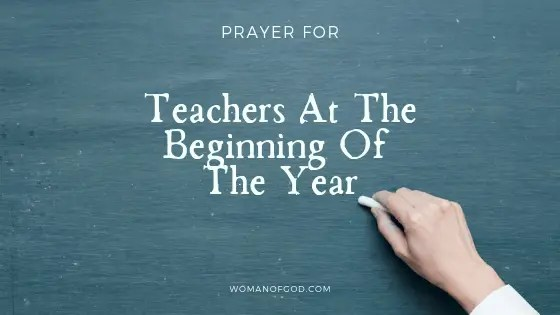 prayer for teachers at the beginning of the year