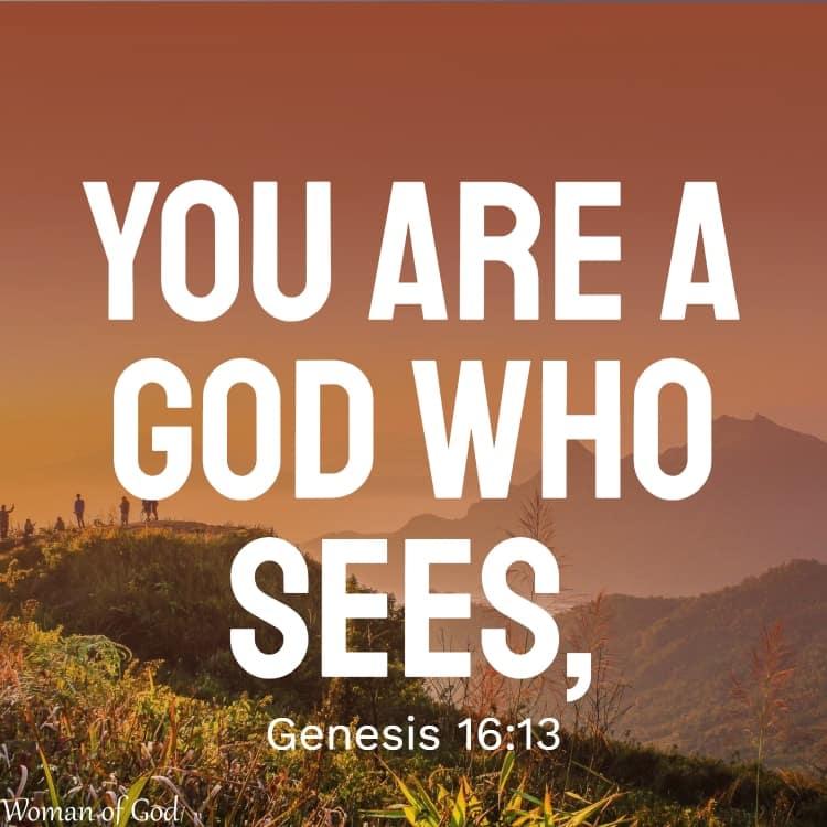 Genesis 16:13 Bible Verse Short