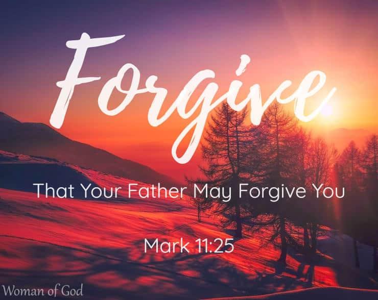 Mark 11:25 Bible Verse