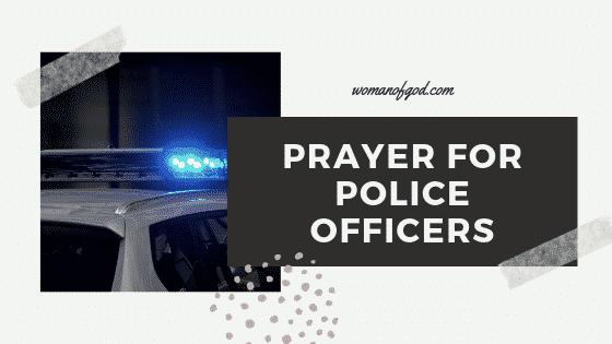 prayer for police officers