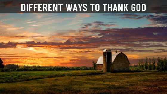 ways to thank God