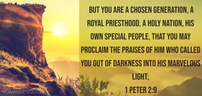 1 peter 2:9 Bible Verse