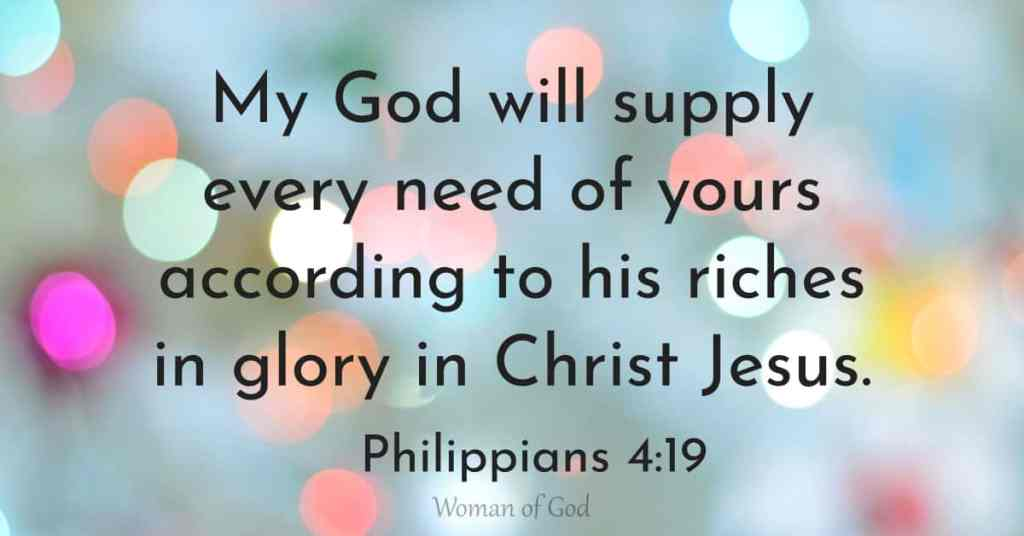 verse of the day philippians 4:19