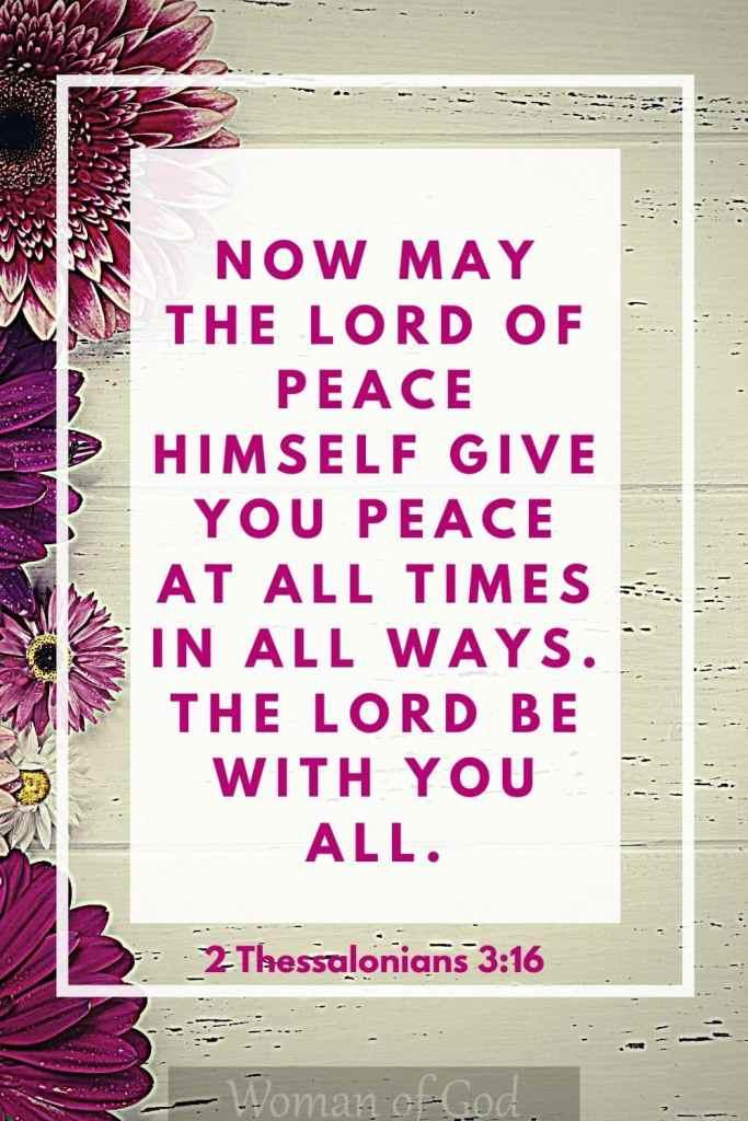 2 Thessalonians 3:16 Bible Verse pin