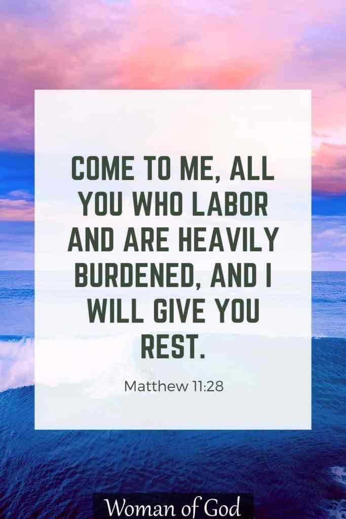 Matthew 11:28 Bible Verse pin