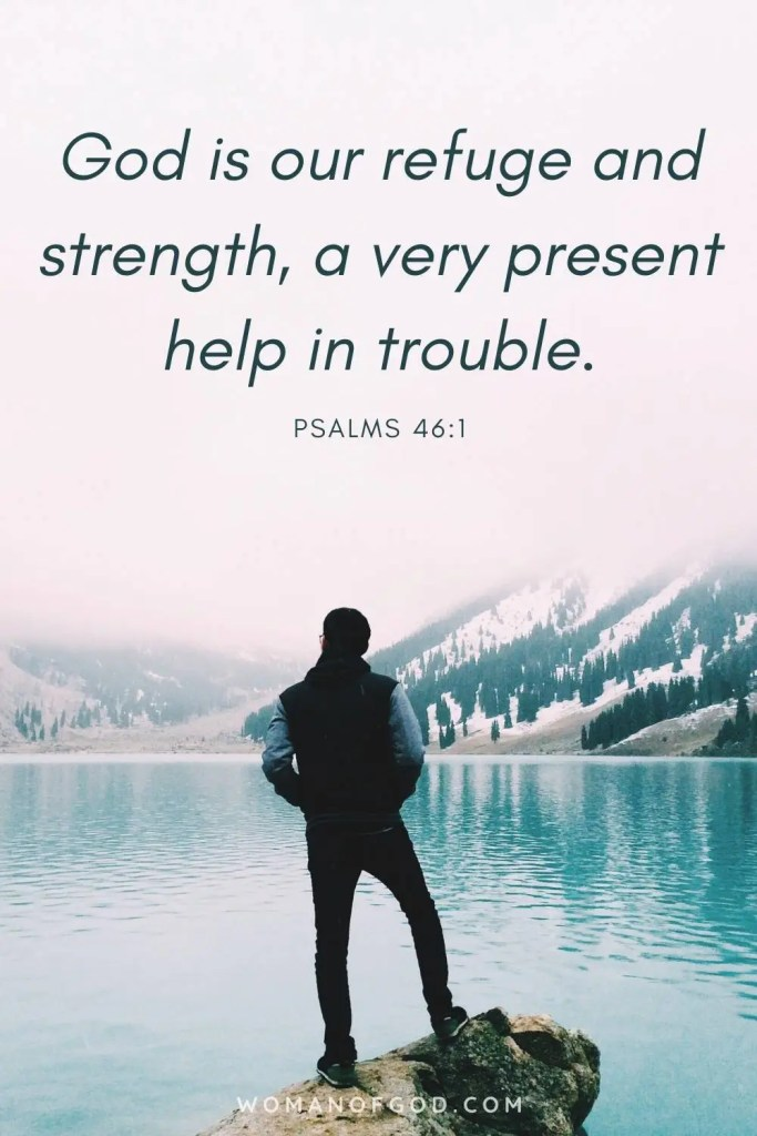 Psalm 46:1 Bible Verse pin