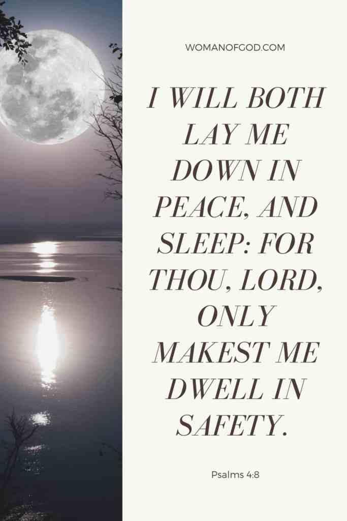 Psalms 4:8 Bible Verse pin