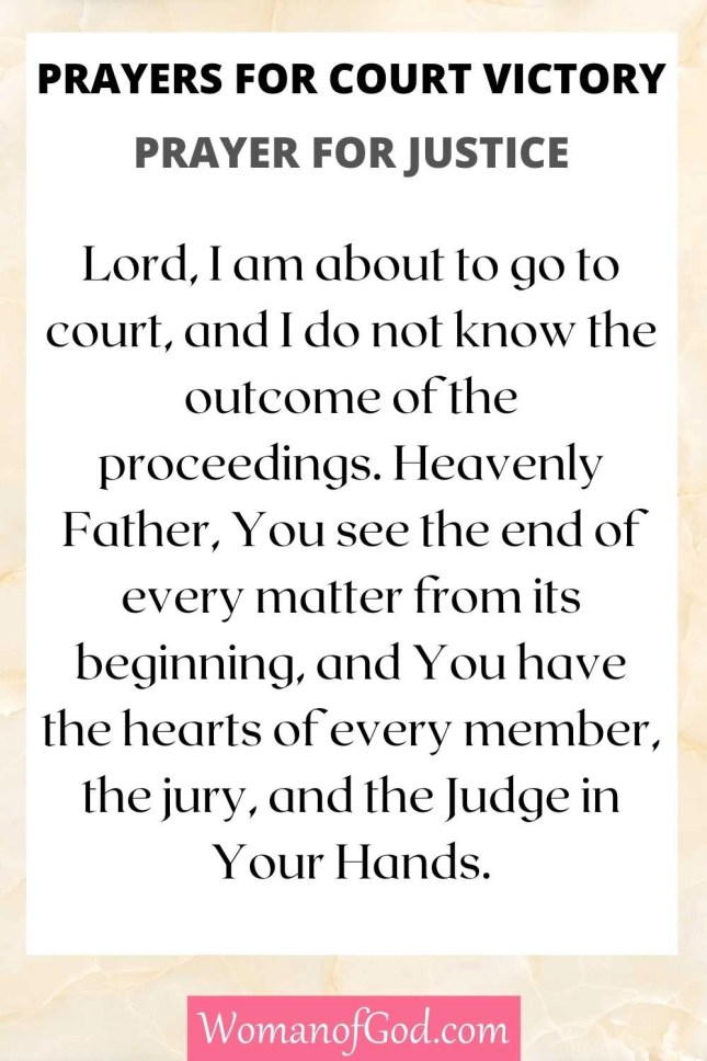 Prayers for Court Victory Prayer For Justice