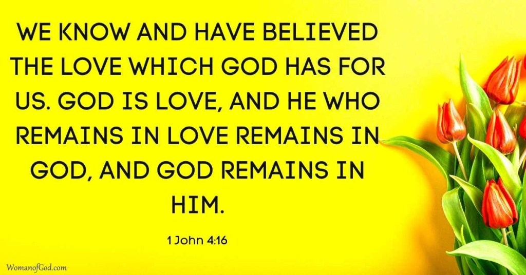 Verse of the Day 1 John 4:16