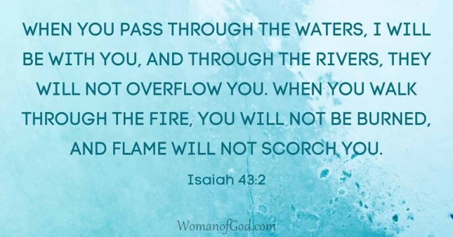 verse of the day Isaiah 43:2
