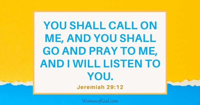 Bible Verse of the Day Jeremiah 29:12