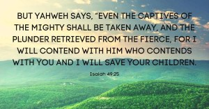 Verse of the Day Isaiah 49:25