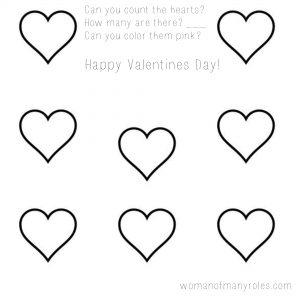 Heart Counting Printable Preschool Worksheet : Woman of