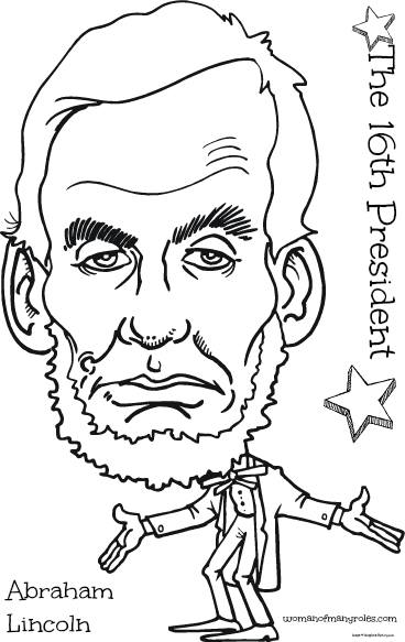The 16th President Abraham Lincoln Coloring Page : Woman