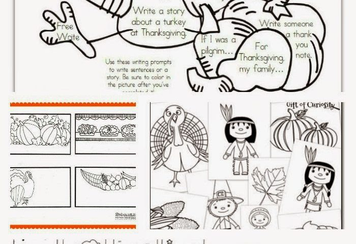 6 Thanksgiving Coloring Pages : Woman of Many Roles