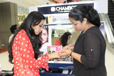 Trying Chambor make up products