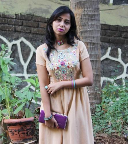 Peach Indian Kurti-gown