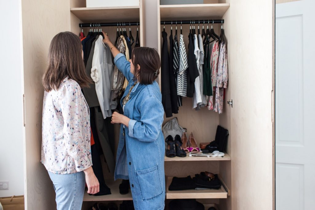 Women OUTFITTING in CLOSET