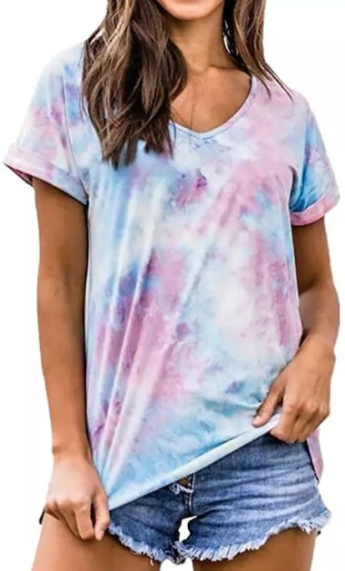 tie dye tshirt for women