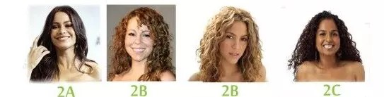 2a, 2b and 2c curly hair types