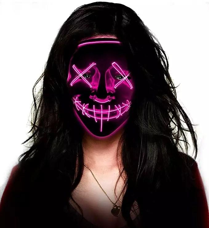 LED mask for halloween