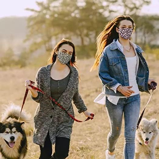 Leopard print mask for women