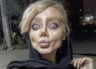 иранка исполосовала себе лицо