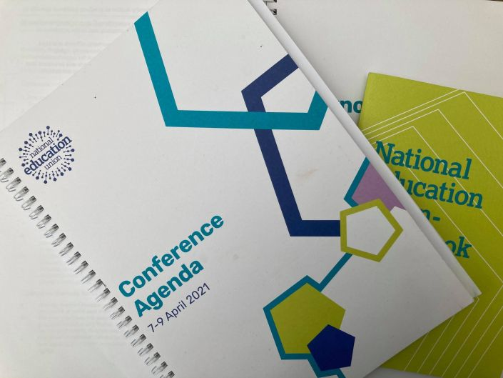 Image of cover of NEU conference agenda