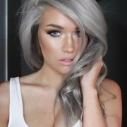 'granny' hair trend young women