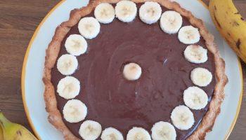 Ricetta Crostata di cioccolata e banane
