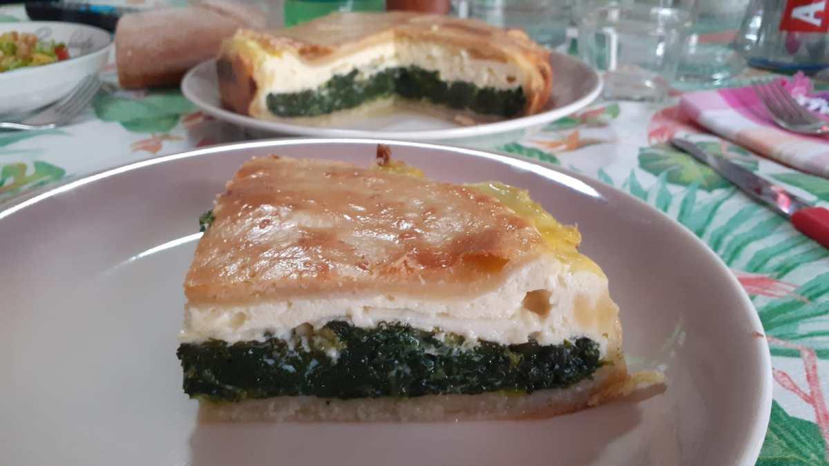 Torta di spinaci e pecorino fresco